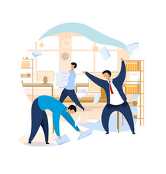 Angry boss shouting at employees clipart vector