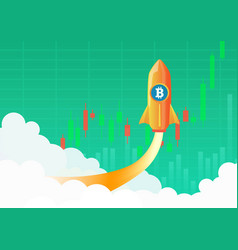 bitcoin cryptocurrency concept hot temperature vector image