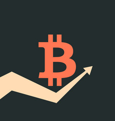 bitcoin index rating trend up arrow vector image