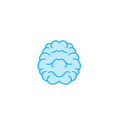 brain logo designs inspiration isolated on white vector image