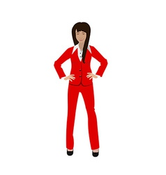 Business girl vector