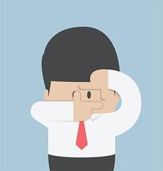 Businessmen making a hand frame vector image