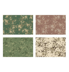 Camouflage pattern design with different color vector