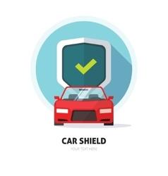 Car guard shield sign collision insurance logo vector image