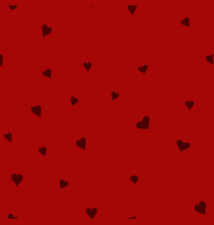 Chaotic doodle hearts seamless pattern vector