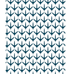 chicken footprint seamless pattern for the fabric vector image