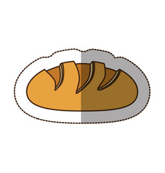 color nomal bread icon vector image