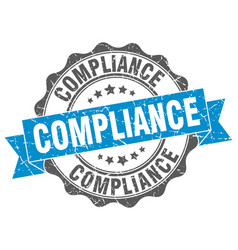 Compliance stamp sign seal vector