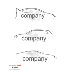 Contour a modern sports car on a white background vector