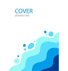 Cover abstract sea background template vector
