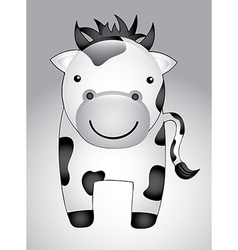 Cow cartoon isolated over gray background vector
