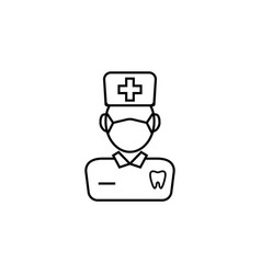 dentist line icon vector image
