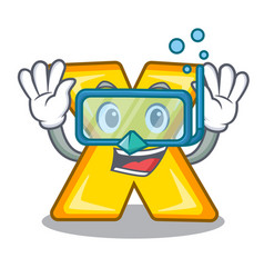 Diving cartoon multiply of a delete sign vector