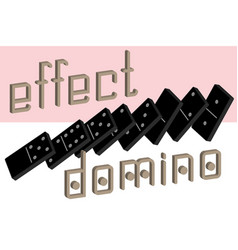 Domino effect poster realistic dominoes full set vector
