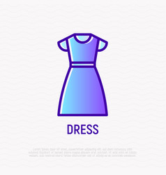 dress thin line icon vector image
