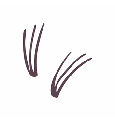 False eyelashes icon cartoon style vector image