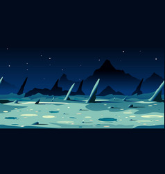 far side moon game background vector image