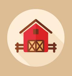 Farm barn icon vector