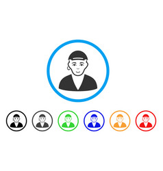 Gay dude rounded icon vector