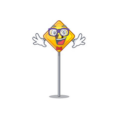 Geek u turn sign shaped cartoon vector