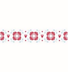 geometric damask hand drawn seamless border vector image