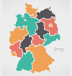 Simple Map Of Germany.Germany Map Simple Vector Images Over 1 300