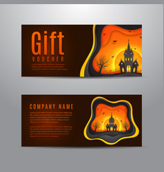 Gift voucher for halloween vector