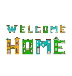 House letter alphabet vector