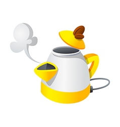 icon electronic kettle vector image