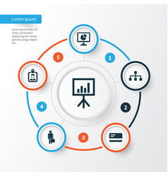 Job icons set collection of statistics vector