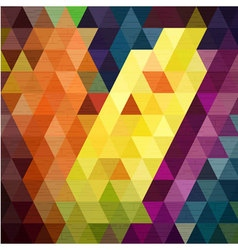 Line move on colorful triangle background fabric t vector