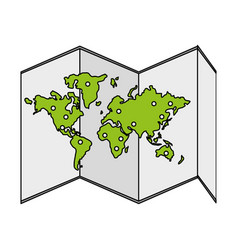 Map icon image vector