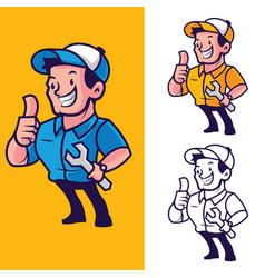 mechanic mascot vector image