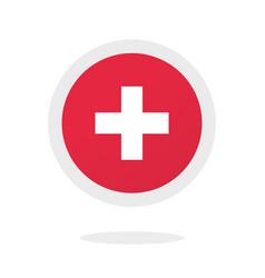 medical cross plus round circle icon idea vector image