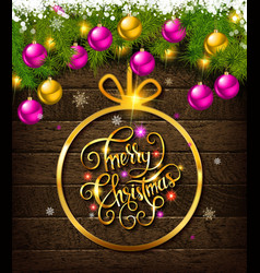 Merry christmas and happy new year 2020 vector