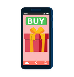 mobile online shopping smartfon vector image