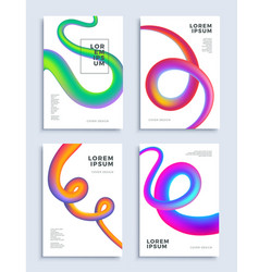 modern abstract covers design templates set vector image vector image