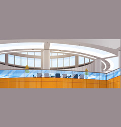 Modern business center office building working vector