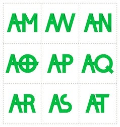 Modern minimalis initial logo 4 vector
