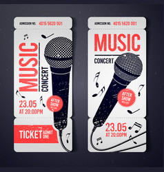 Music concert ticket design template vector