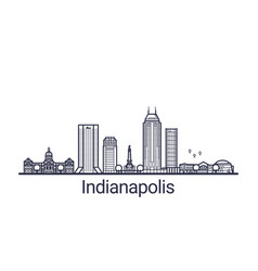 outline indianapolis banner vector image