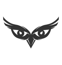 Owl eyes logo vector