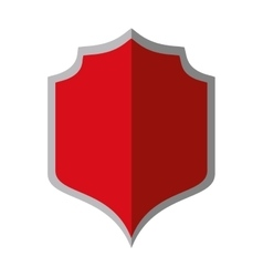 Red shield protection gray border shadow vector