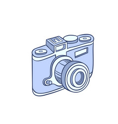 Retro photo camera vector