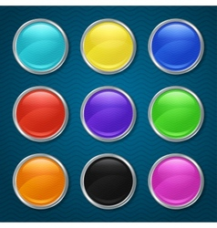 round patterned icons for app vector image