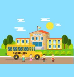 school bus school education and science concept vector image