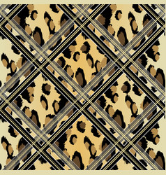 seamless faux leopard skin pattern with black and vector image