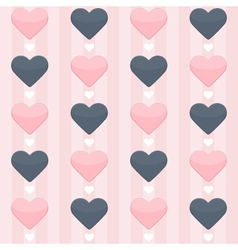 seamless pattern with blue and pink hearts on a vector image