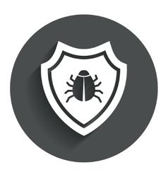 Shield sign icon Virus protection symbol vector
