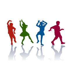 Silhouettes of little boys and girls vector